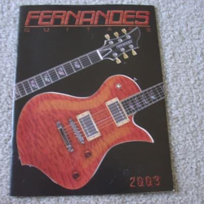 Fernandes 2003 Fernandes Guitar Catalog 2000's