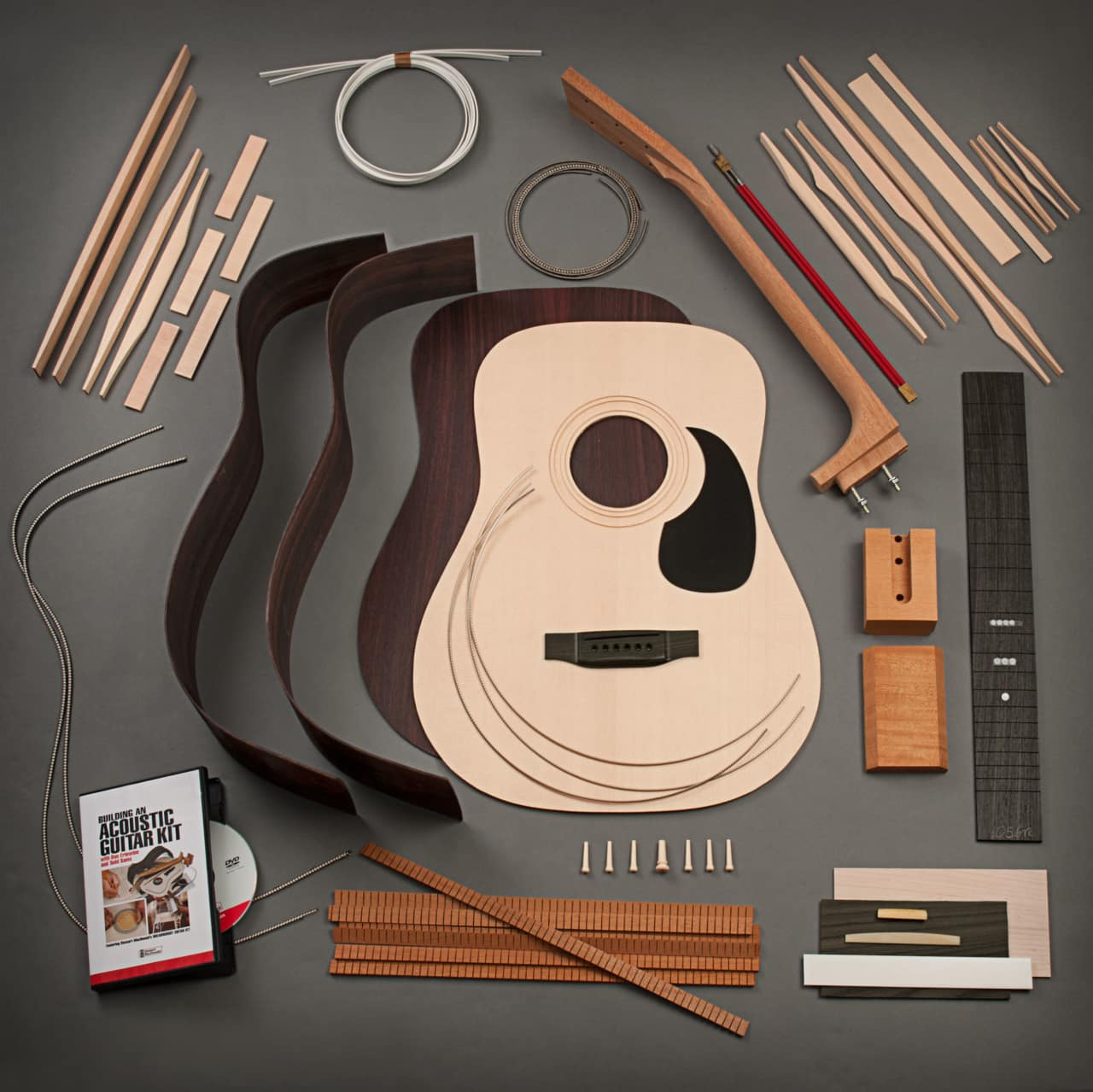 stewmac dreadnought acoustic guitar kit bolt on neck. Black Bedroom Furniture Sets. Home Design Ideas