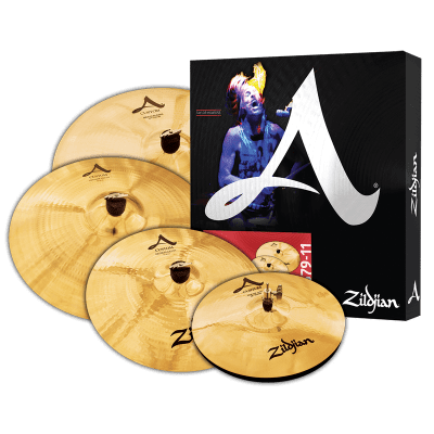 Zildjian A Custom Cymbal Set -14hh, 16 cr, 18 cr, 20 ride