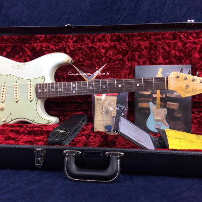Fender Custom Shop EU Master Design 65 Stratocaster Relic Aged Pale Sonic Blue RW by Dale Wilson for sale