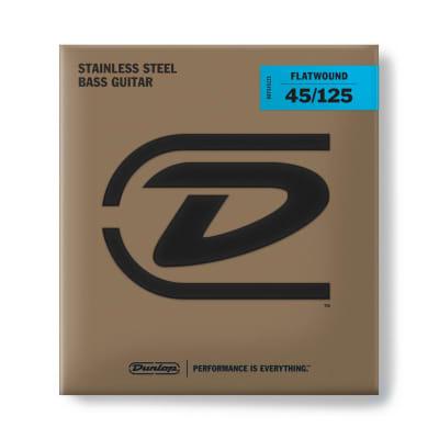 Dunlop Bass Flatwound Long Scale 45/125 5/Set Dbfs45125