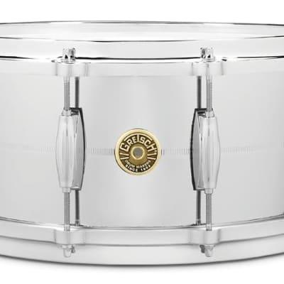 "Gretsch 14"" x 6.5"" Chrome Over Brass Snare Drum"