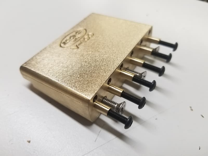 KGC Brass Tremolo Block Upgrade for Wilkinson Gotoh VS100 - Sustain, Tone,  Stability - USA Made