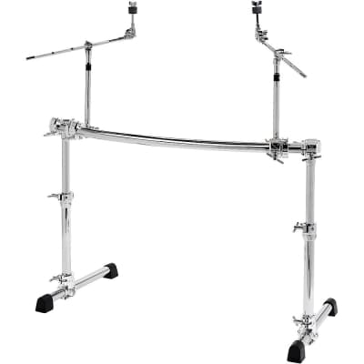 Gibraltar GCS500H Height Adjustable Curved Rack with 2 Cymbal Booms