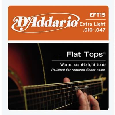D'Addario EFT15 Flat Top Phor Bronze Extra Lite Acoustic Guitar Strings, .010-.047