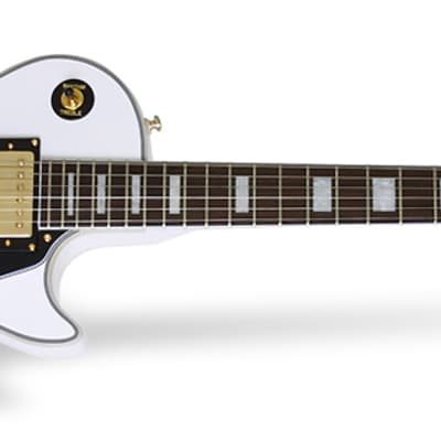 Guitar Electric Epiphone ELPCPAWGH LP Custom Pro White Gold for sale