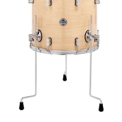 PDP Concept Maple 14x16 Floor Tom Natural Lacquer with Chrome Hardware