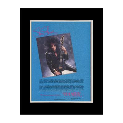 1987 Steve Stevens for Hamer Guitars Original Magazine Ad Double Matted for 11 x 14 Frame
