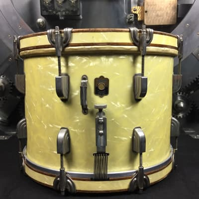 Leedy Marching Snare 1930's Marine Pearl w/ Case