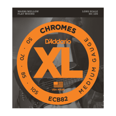 D'Addario ECB82 Chromes Bass, Medium, 50-105, Long Scale