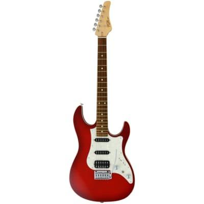 FGN Guitars J-Standard Odyssey FM Transparent Red Burst Electric Guitar with Gig Bag for sale