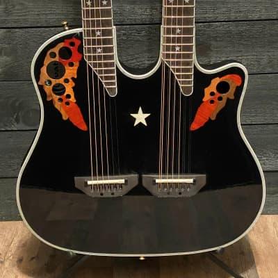 Ovation RSE225 Richie Sambora Elite Double-neck Acoustic Electric Guitar w/ Case