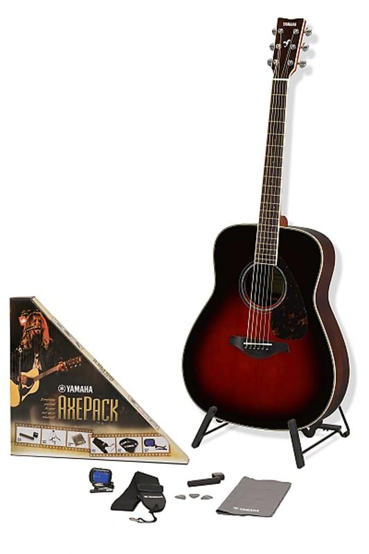 38c7110950 Yamaha FG830 Tobacco Brown Sunburst Acoustic Guitar Bundle | Reverb