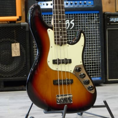 Fender American Deluxe Jazz Bass Sunburst (2008) for sale