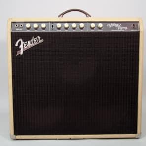 Circa 1995 Fender Vibro King CSR4 Electric White Tolex Guitar 60 Watt 3x10 Tube Amplifier USA