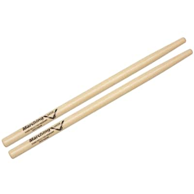 Vater Percussion MV9 Hybrid Marching Snare & Tenor Round Tip Hickory Drum Sticks