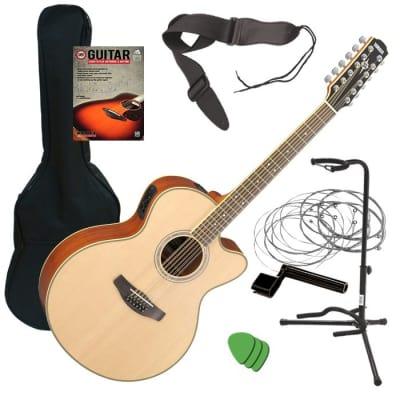 Yamaha CPX700II-12 Acoustic-Electric Guitar - Natural GUITAR ESSENTIALS BUNDLE