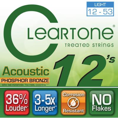 Cleartone Acoustic Guitar strings - Phosphor Bronze - Light .012 .053 - 1 Pack