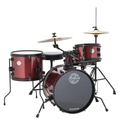 Ludwig LC178X025 Questlove Pocket Kit w/ Hardware & Cymbals in Wine Red Sparkle