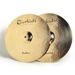 "Turkish Cymbals 14"" Rock Series Rock Beat Hi-Hat Flat Hole RB-HF14 (Pair)"