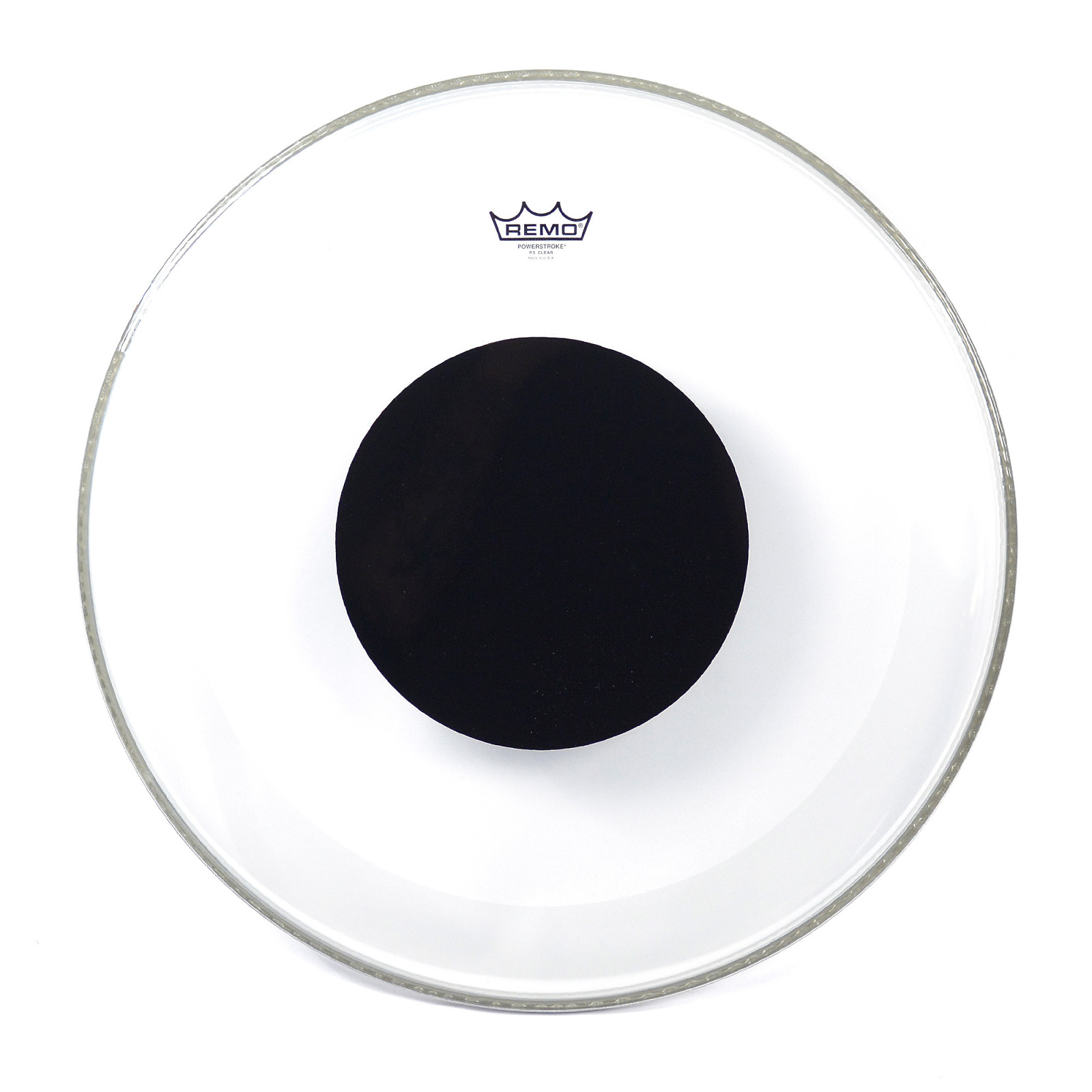 Remo Powerstroke 3 Coated Bass Drum Head with Black Dot 22in