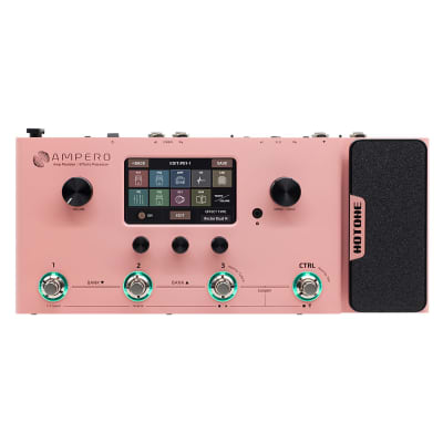 Hotone Ampero Guitar Bass Amp Modeling IR Cabinets Simulation Multi Language Multi-Effects(PINK)