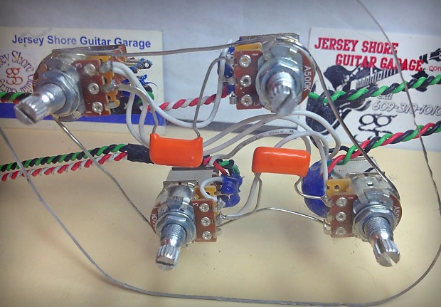 Epiphone Les Paul push/pull wiring harness 21 tone Jimmy Page   Reverb diagram les paul wiring Reverb