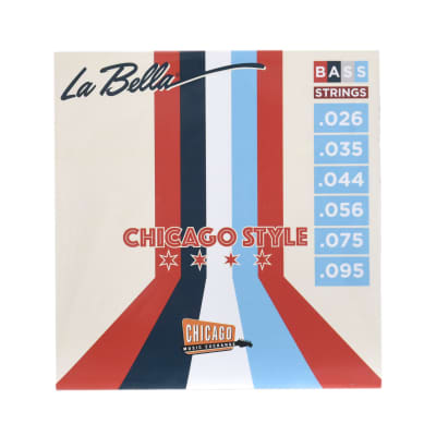 "La Bella ""Chicago Style"" Pure Nickel Bass Strings Bass VI 26-95 (CME Exclusive)"