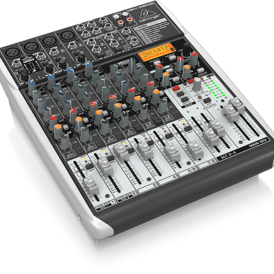 Behringer QX1204USB Xenyx 12-Input 2/2-Bus Mixer with USB/Audio Interface w/ Demo Video