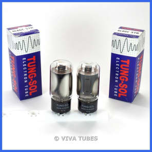 Brand New Plate Current Matched Pair (2) Tung-Sol Reissue 6L6GC STR Vacuum Tubes