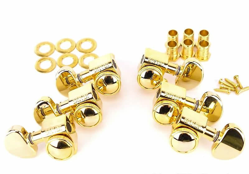 grover 3x3 locking rotomatic gold kidney tuners 18 1 502g reverb. Black Bedroom Furniture Sets. Home Design Ideas