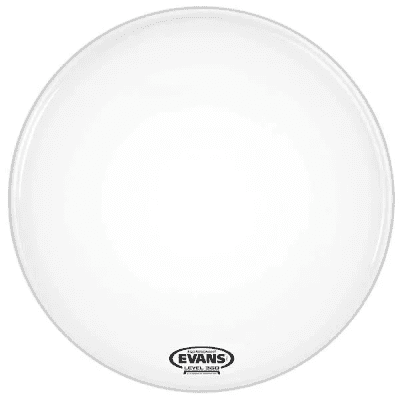 """Evans BD24RGCW-NP EQ3 Resonant Coated White Bass Drum Head with No Port - 24"""""""