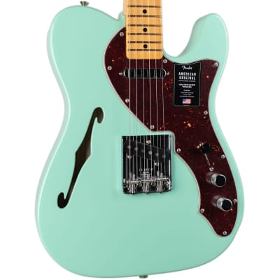 FENDER AMERICAN ORIGINAL 60S TELECASTER THINLINE MAPLE FINGERBOARD - SURF GREEN for sale