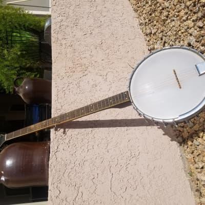 Vintage Gretsch Bacon & Day Folk Model Long Neck, E Tuned Banjo 1960s for sale