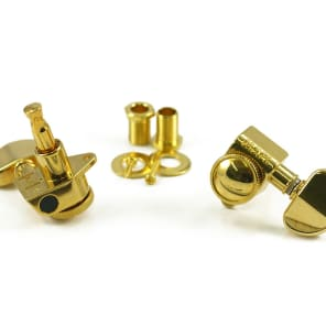 Genuine Grover 502G Roto-Grip Locking Rotomatic 3x3 tuners, Gold