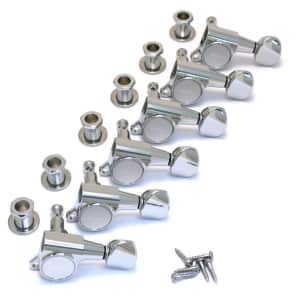 TK-0760-010 Gotoh Sealed 6 Inline Chrome Guitar Tuners for sale