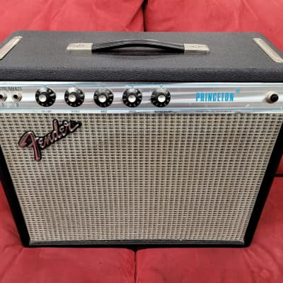Fender Princeton 1x10 Combo Amp 1973 Silverface for sale