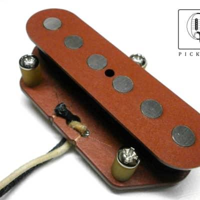 "Telecaster Pickup Bridge .250"" QUARTER POUND HandWound Red Fits Fender Guitar Nocaster Broadcaster"