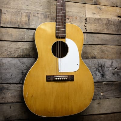 Airline Kay Solid Flat Top 60's USA Made Vintage Acoustic Guitar L5725 w/ gig bag for sale