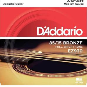 D'Addario EZ930 85/15 Bronze Acoustic Guitar Strings Medium 13-56