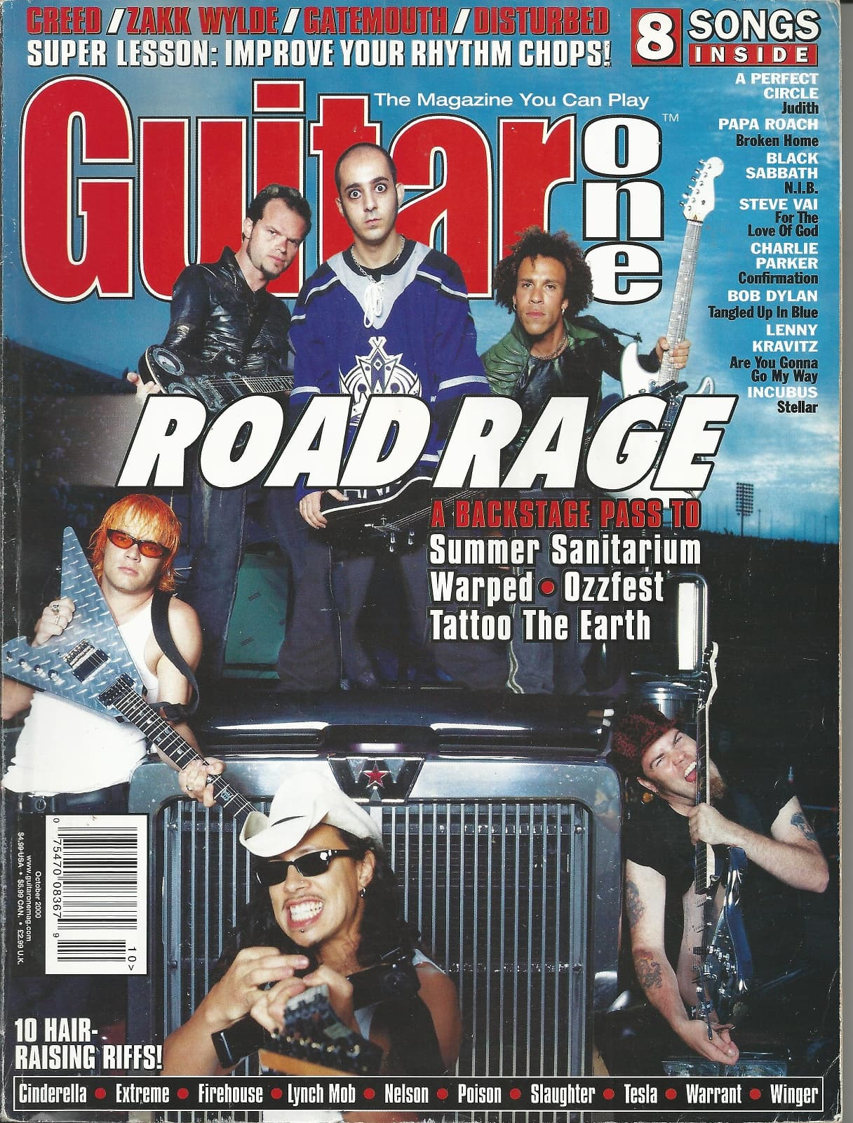 Guitar one magazine october 2000 music solutions llc for Tattoo shops near bolingbrook il