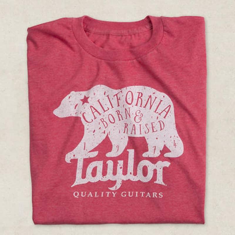 taylor guitars california bear tee shirt heather red xl reverb. Black Bedroom Furniture Sets. Home Design Ideas