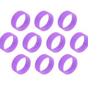 SuperFlex GOLD SFC-BAND-PURPLE-10PK Colored Cable ID Rings (10-Pack)