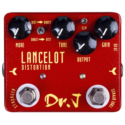 Dr.J D-59 Lancelot Distortion Guitar Effect Stomp Pedal Ships Free