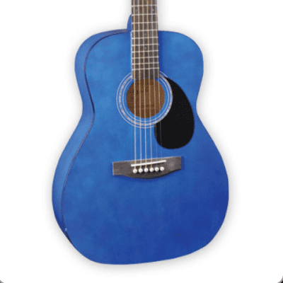 Jay Turser  JJ43-TBL JJ-43 Series Mahogany Neck 3/4 Size 6-String Acoustic Guitar for sale