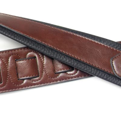 Stagg Brown Padded Leatherette Guitar Strap w/Triangular End