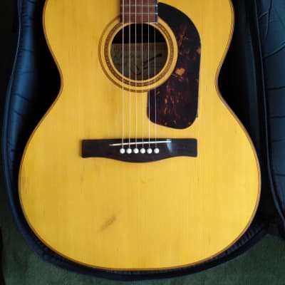 Vintage Giannini GS-380 1970 Natural Finish and beautiful inlays, X-bracing for sale