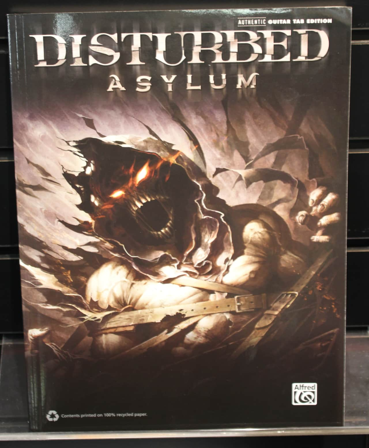disturbed asylum guitar recorded versions softcover songbook reverb. Black Bedroom Furniture Sets. Home Design Ideas