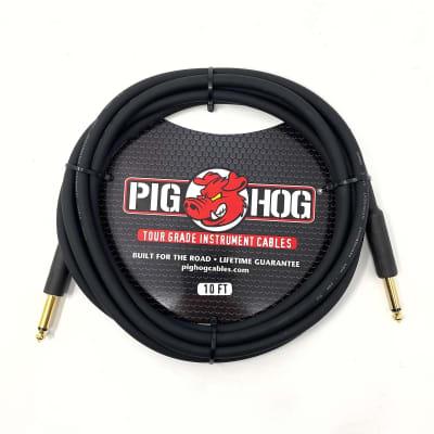"Pig Hog PH10 10' 1/4-1/4"" Instrument Cable"