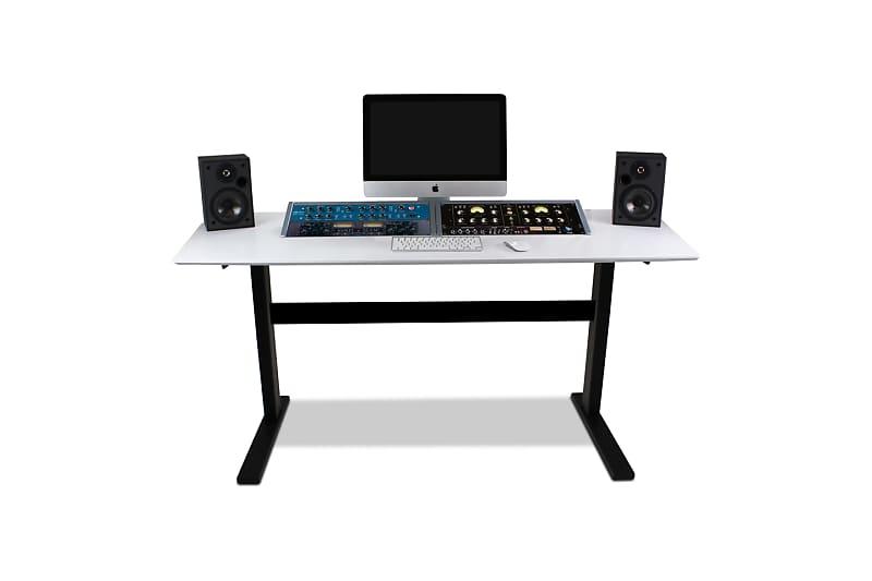 Bazel Studio Desk Echo Workstation Desk White U0026 Black